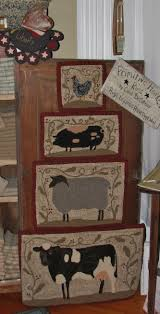 Primitive Hooked Rugs Farm Friends Series Cow Rug Hooking Pattern