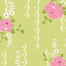 Shabby Chic Quilting Fabric by Cotton Quilt Fabric Nine Dots Rose Fabric Shabby Chic Green Floral