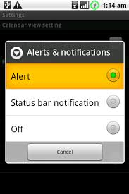 how to set alarm on android notifications how to set alarm for all calendar events synced