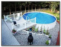 above ground pool deck and fence kits decks home decorating