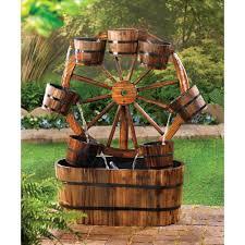 wagon wheel fountain