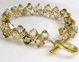 crystal gold bracelet images Champagne crystal tennis bracelet yellow citrine and peridot jpg