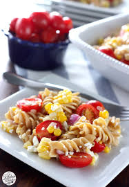 fresh corn and tomato pasta salad a kitchen addiction