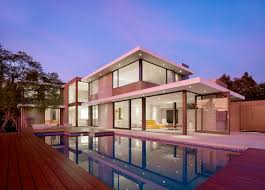 lighting around pool deck minimalist home ideas with dark finished wooden deck and superb