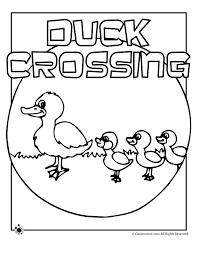 ducklings coloring pages woo jr kids activities