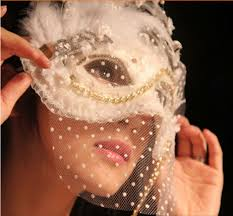romantic aesthetic lace veil dance party mask masquerade halloween