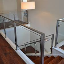 Indoor Banisters Modern Railing And Stairs Stainless Steel And Glass Madinc