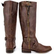 s boots calf size g by guess hertlez medium brown leather fashion knee high boots wide