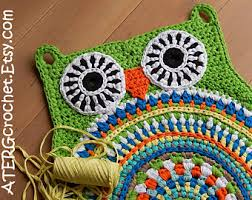 Crochet Owl Rug Crochet Pattern Owl Hexagon By Atergcrochet