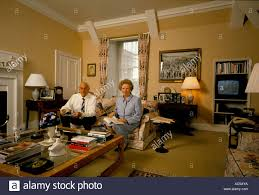 Office In The Living Room Thatcher Downing Street Margaret Thatcher Reading A Book On A