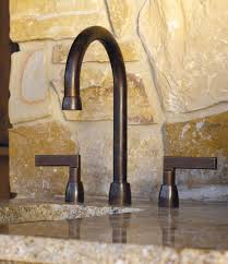 Bronze Faucet For Kitchen Lavatory Deck Mount Faucet With 12 7 8