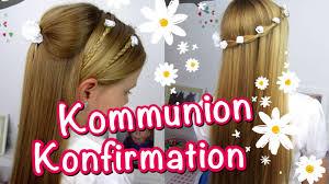 Hochsteckfrisurenen Selber Machen Einfach Schnell by Konfirmation Kommunion Frisuren Klassisch Einfach Und