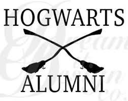 hogwarts alumni decal hogwarts files etsy studio