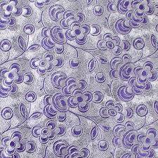 purple silver floral foil roll wrap