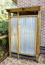 Outdoor Shower Mirror - best 25 tin shower ideas on pinterest tin shower walls rustic