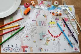 table enfant mariage télécharger des sets de table à colorier pour les enfants