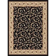 8 x 10 large ivory gold u0026 black area rug elegance rc willey