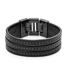 fossil black leather bracelet images Fossil leather bracelet www thehoffmans info jpg