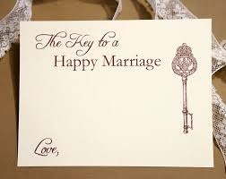 advice for the cards key to a happy marriage wedding advice cards vintage key