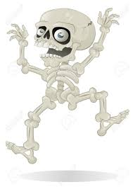 halloween skeleton images halloween skeleton jumping with fright royalty free cliparts