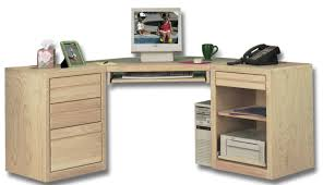 furniture unfinished wood corner office desk with file storage