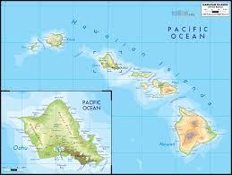 Latin America Physical Map Map Of Hawaiian Islands Roundtripticket Me