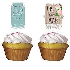 rustic wedding cupcakes rustic wedding cupcake toppers 12 per pack by creative