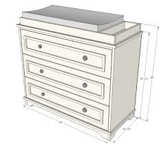 White Changing Table Topper White Build A Fillman Dresser Or Changing Table Free And