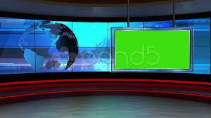 Green Tv by News Tv Studio Set 24 Virtual Green Screen Background Loop