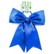 blue bows blue big cheer bow on ponytail holder hobby lobby 134561