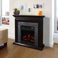 Mantel Cabinet Espresso Electric Fireplace Mantel With Large Room