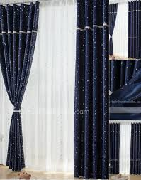 Blockout Curtains For Kids Favorite Dark Navy Blackout Curtains Of Printed Stars