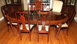 queen anne dining room set queen anne dining room sets queen style mahogany dining table lot