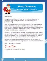 santa claus letters letter from santa templates free printable santa letters