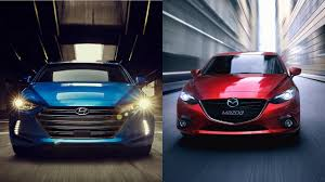 mazda 2017 models 2017 hyundai elantra vs 2016 mazda 3 youtube