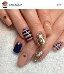 and navy nailed it pinterest navy gold and nail nail