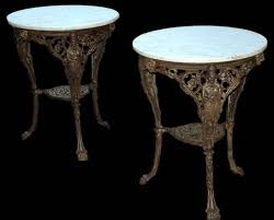 round cast iron table cast iron and marble garden tables for sale at 1stdibs