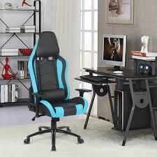 bureau ergonomique r lable en hauteur ikayaa stock gaming chaise de bureau chaise d ordinateur inclinaison