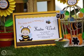 diy printable invitation card baby bumble bee birthday party