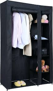 wardrobes double canvas wardrobe rail clothes storage cupboard