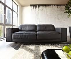echtleder sofa sofa leder schwarz 3 sitzer beste sofa comodo 245x110 schwarz