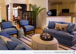 Blue Chairs For Living Room Amazing 15 Lovely Living Room Designs With Blue Accents Home