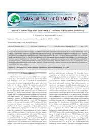 analysis of lubricating grease by icp oes a case study on