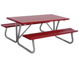 Red Cedar Octagon Walk In Picnic Table by 6 U0027 Folding Picnic Table