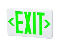 exit sign light bulbs emergency exit led lighting lightup com