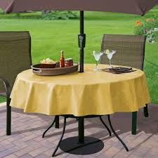 Round Patio Table Cover With Zipper by 28 Round Patio Tablecloth With Umbrella Hole Amazon Com