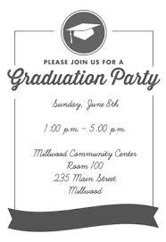 graduation party invitations ribbon graduation printable invitation template customize add