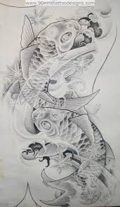 grey koi fish pisces tattoo sketch photo 2 photo pictures and