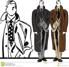 sketch of fashion handsome man illustration stock vector image