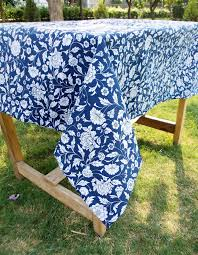 indigo kalamkari table cover from the exclusive home decor and